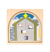 Load image into Gallery viewer, Wooden puzzles Australia nativity puzzle Christmas stable