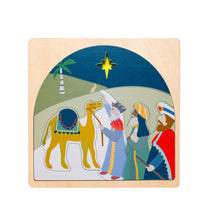Load image into Gallery viewer, Wooden puzzles Australia nativity puzzle Christmas wisemen