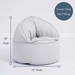toddler bean bag chair with dimensions cover only no filling
