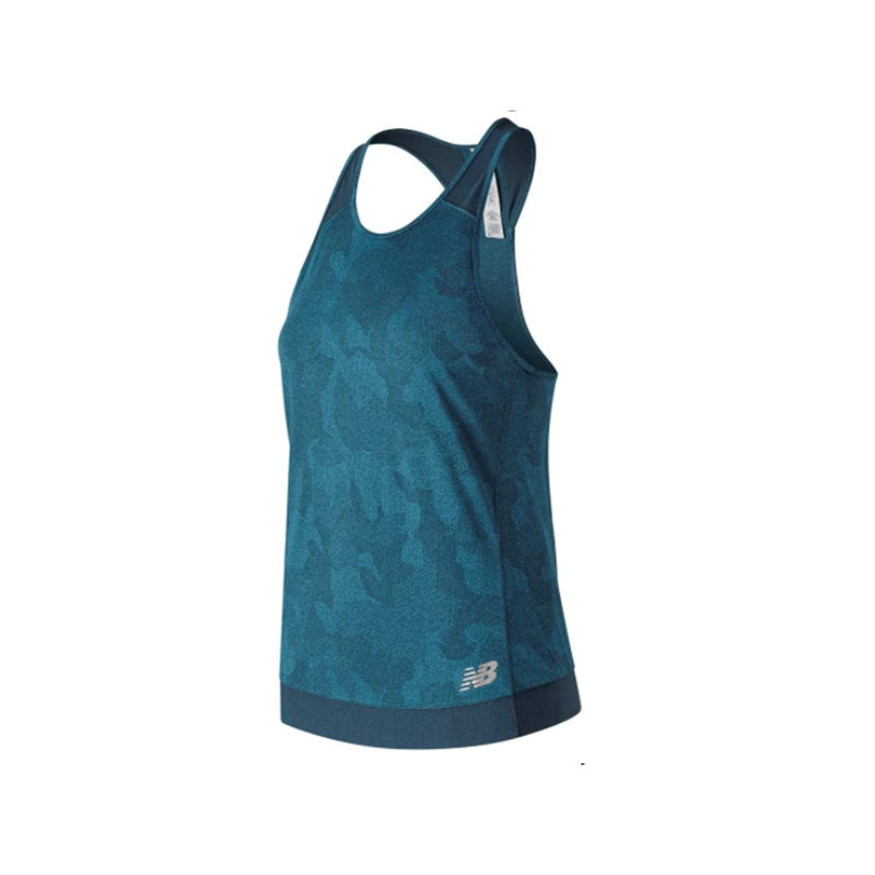 Women's New Balance Q Speed Breathe Tank Top - North Sea Heather