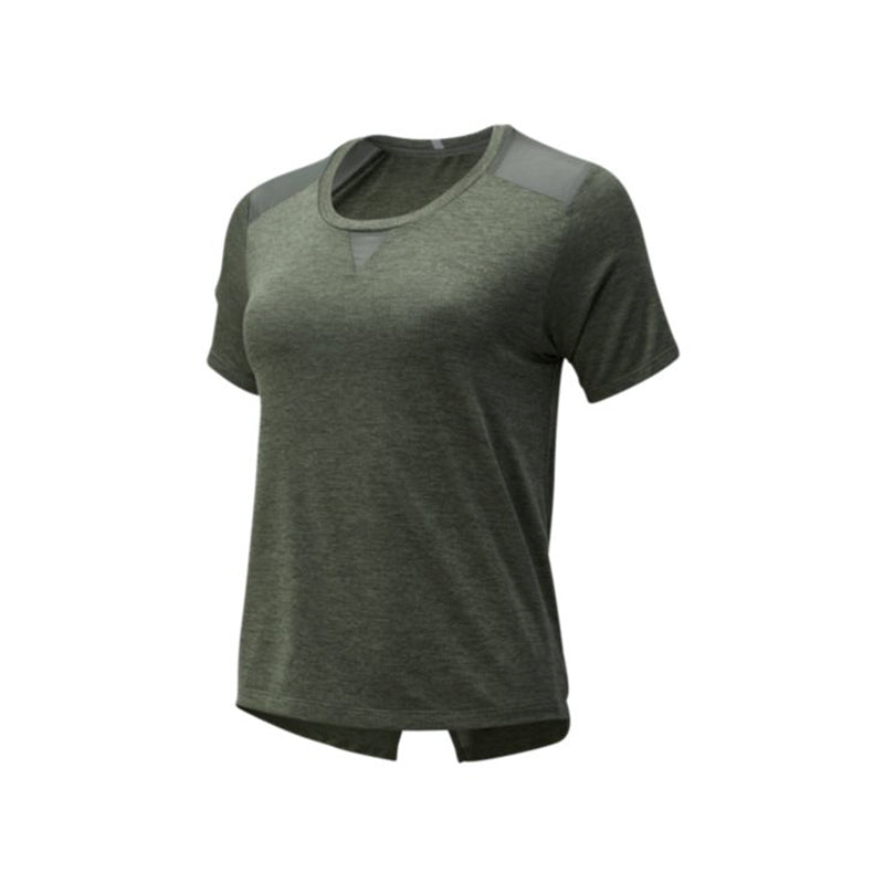 Women's New Balance Impact Run Mesh Short Sleeve - Slate Green