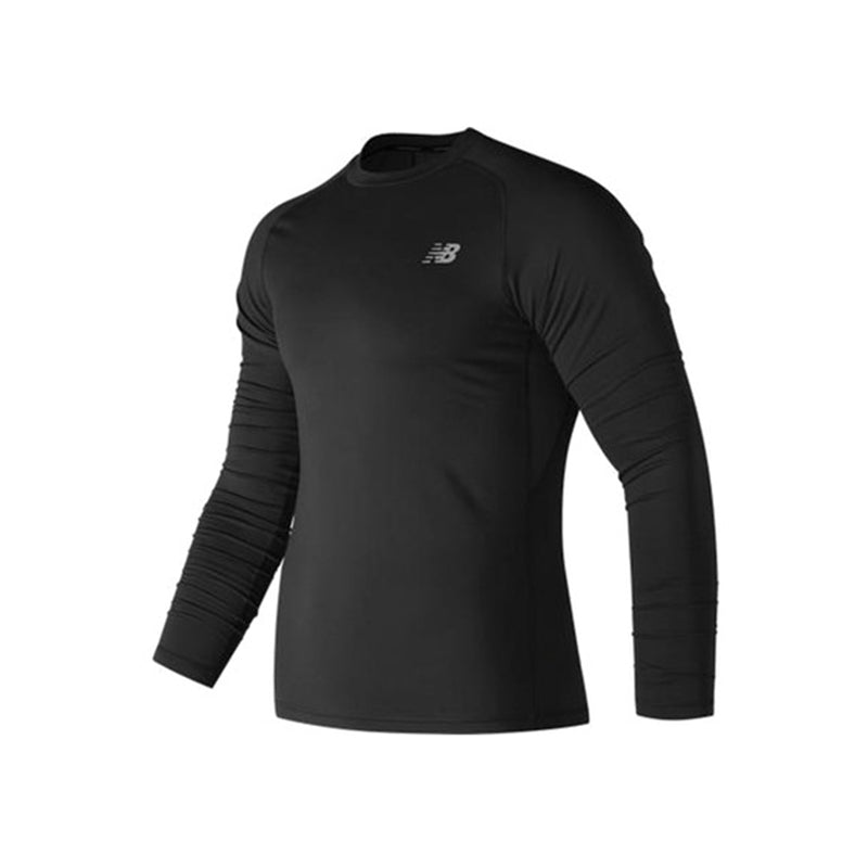 Men's New Balance Aeronamic Thermal Long Sleeve Tee - Black