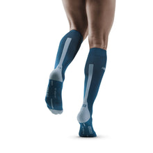 Load image into Gallery viewer, Men's CEP Tall Run Socks 3.0 - Blue/Grey