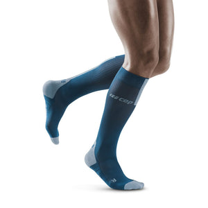 Men's CEP Tall Run Socks 3.0 - Blue/Grey