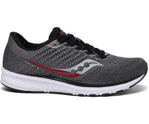 Men's Saucony Ride 13 - Charcoal/Black