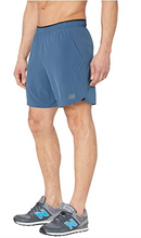 "Load image into Gallery viewer, Men's New Balance Fortitech 7"" 2-in-1 Shorts - Stone Blue"