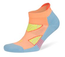 Load image into Gallery viewer, Balega Enduro No Show Socks - Peach/Ethereal Blue
