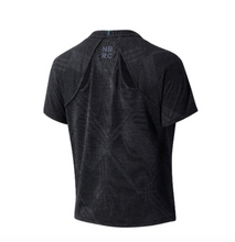 Load image into Gallery viewer, Women's New Balance Q Speed Fuel Jacquard Short Sleeve - Black Heather