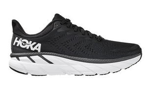 Men's Hoka Clifton 7 - BLACK / WHITE
