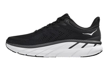 Load image into Gallery viewer, Men's Hoka Clifton 7 - BLACK / WHITE