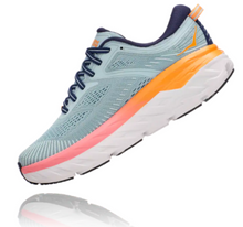Load image into Gallery viewer, Women's Hoka Bondi 7 - BLUE HAZE / BLACK IRIS