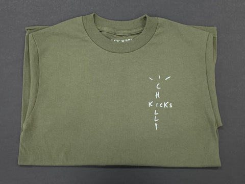 Chilly Cactus Tee - Olive