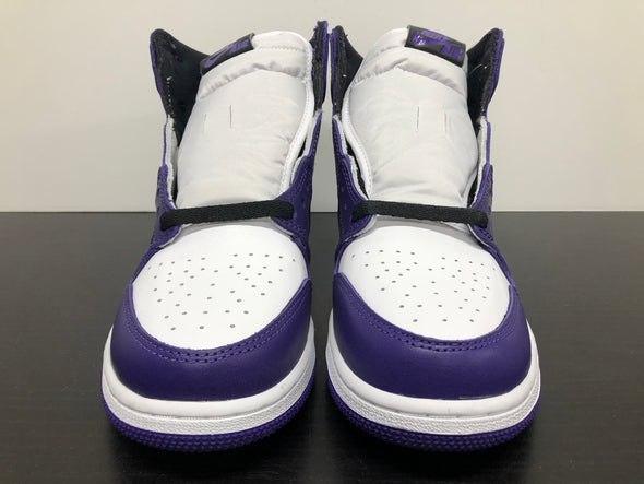 Nike Air Jordan 1 Court Purple White GS