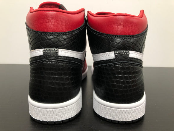 WMNS Nike Air Jordan 1 Satin Snake Red