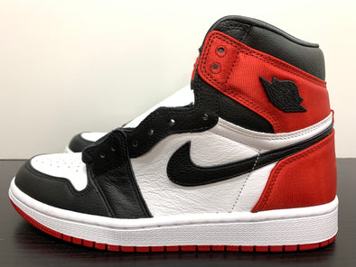 WMNS Nike Air Jordan 1 Satin Black Toe
