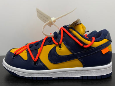 Nike Dunk Low Off-White University Gold Michigan