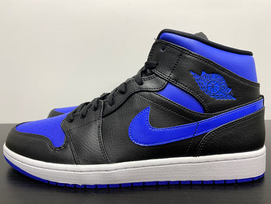 Nike Air Jordan 1 Mid Black Hyper Royal