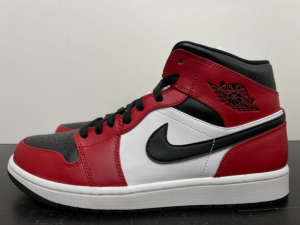Nike Air Jordan 1 Mid Chicago Black Toe Size 10