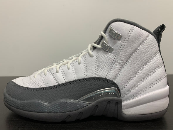 Nike Air Jordan 12 White Dark Grey GS