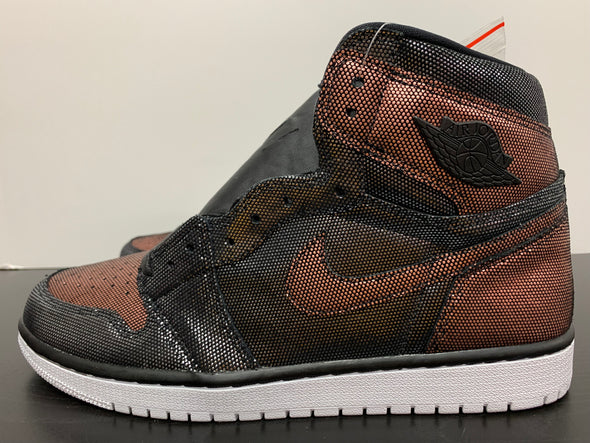 WMNS Nike Air Jordan 1 Fearless Black Metallic Rose Gold