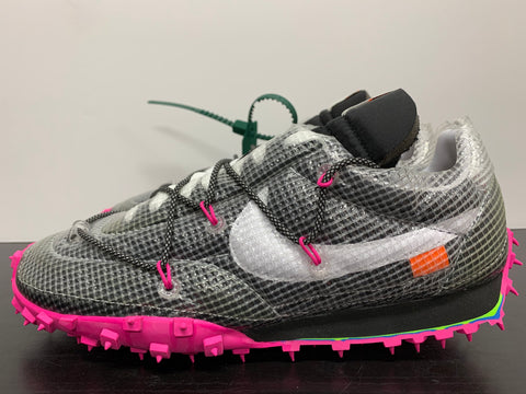 WMNS Nike Waffle Racer Off-White Black Size 13.5W