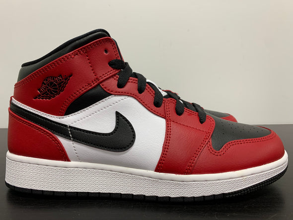 Nike Air Jordan 1 Mid Chicago Black Toe GS