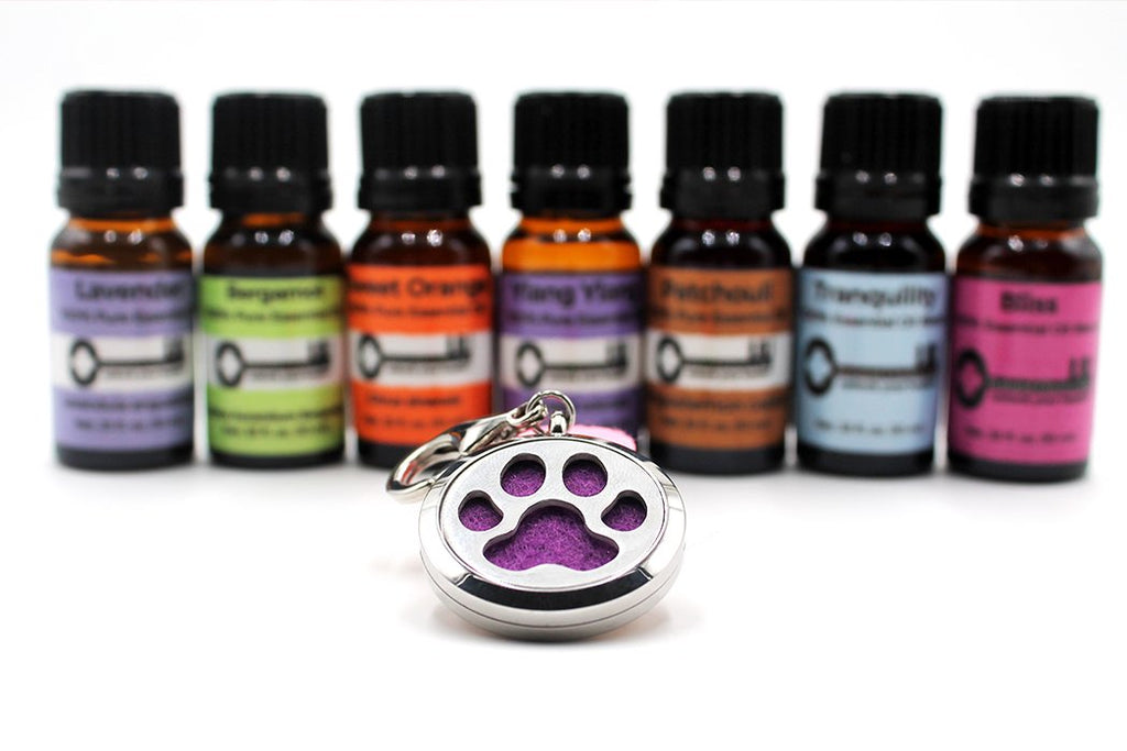 Stainless Steel dog pendant essential oil diffuser - Natural Choice Company