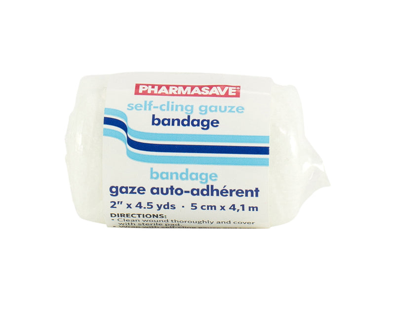 "Pharmasave Self-Cling Gauze Bandage 10cmX4.1m (4""X4.5yds) - Simpsons Pharmacy"