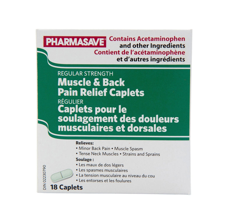 Pharmasave Muscle & Back Pain Relief Caplets - Simpsons Pharmacy