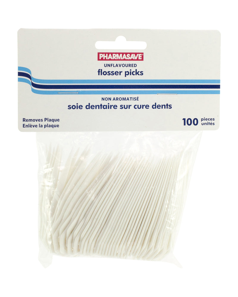 Pharmasave Flosser Picks - Unflavoured - Simpsons Pharmacy