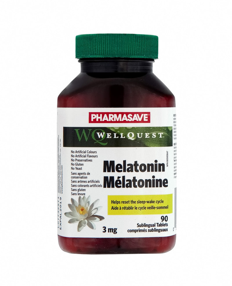 Pharmasave WellQuest Melatonin 3mg Sublingual Tablets - Simpsons Pharmacy
