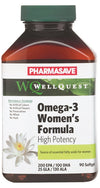 Pharmasave WellQuest Omega-3 Women's Formula High Potency 200 EPA/100 DHA/25 GLA/130 ALA Clear Enteric Softgels - Simpsons Pharmacy