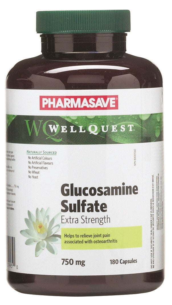 Pharmasave WellQuest Glucosamine Sulfate Extra Strength 750mg Capsules - Simpsons Pharmacy