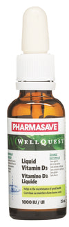 Pharmasave WellQuest Liquid Vitamin D3 1000IU - Simpsons Pharmacy