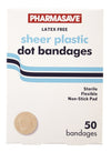 Pharmasave Bandages - Plastic Sheer Dot - Simpsons Pharmacy