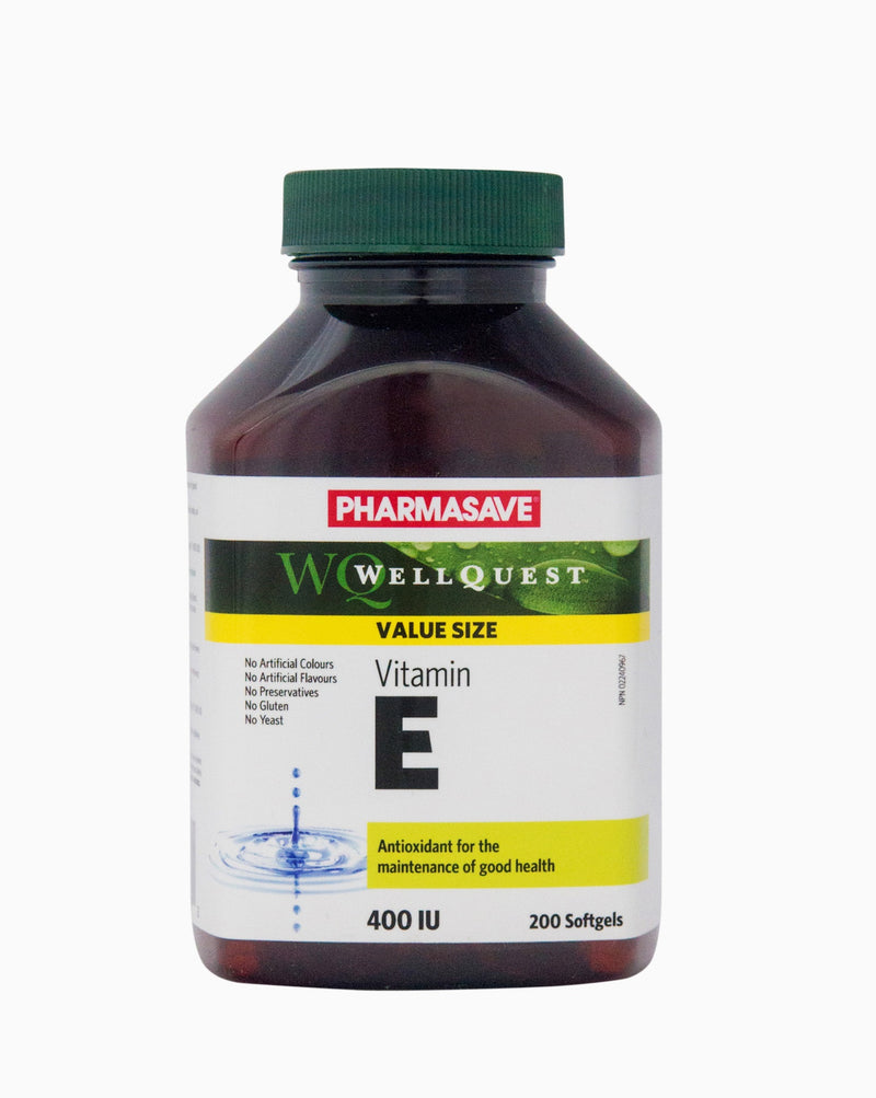 Pharmasave WellQuest Vitamin E Synthetic 400IU Capsules - Simpsons Pharmacy