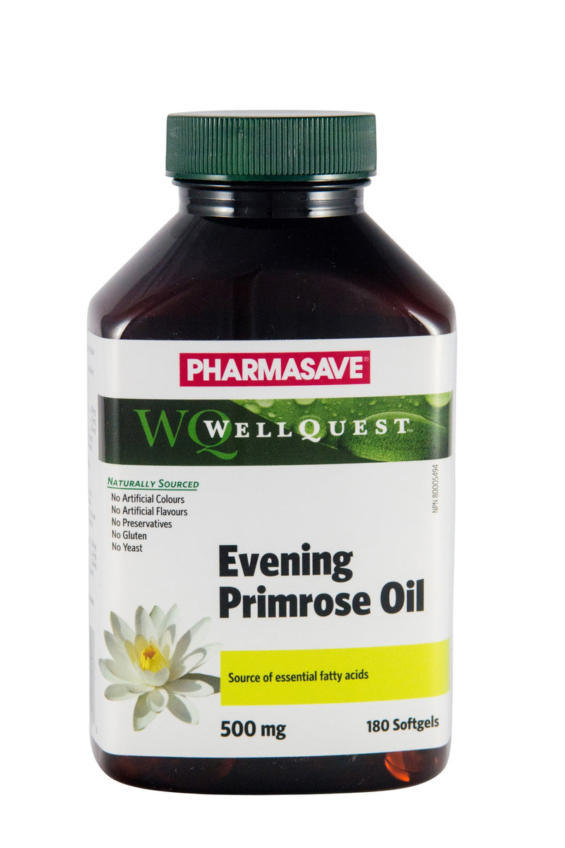 Pharmasave WellQuest Evening Primrose Oil 500mg Softgels - Simpsons Pharmacy