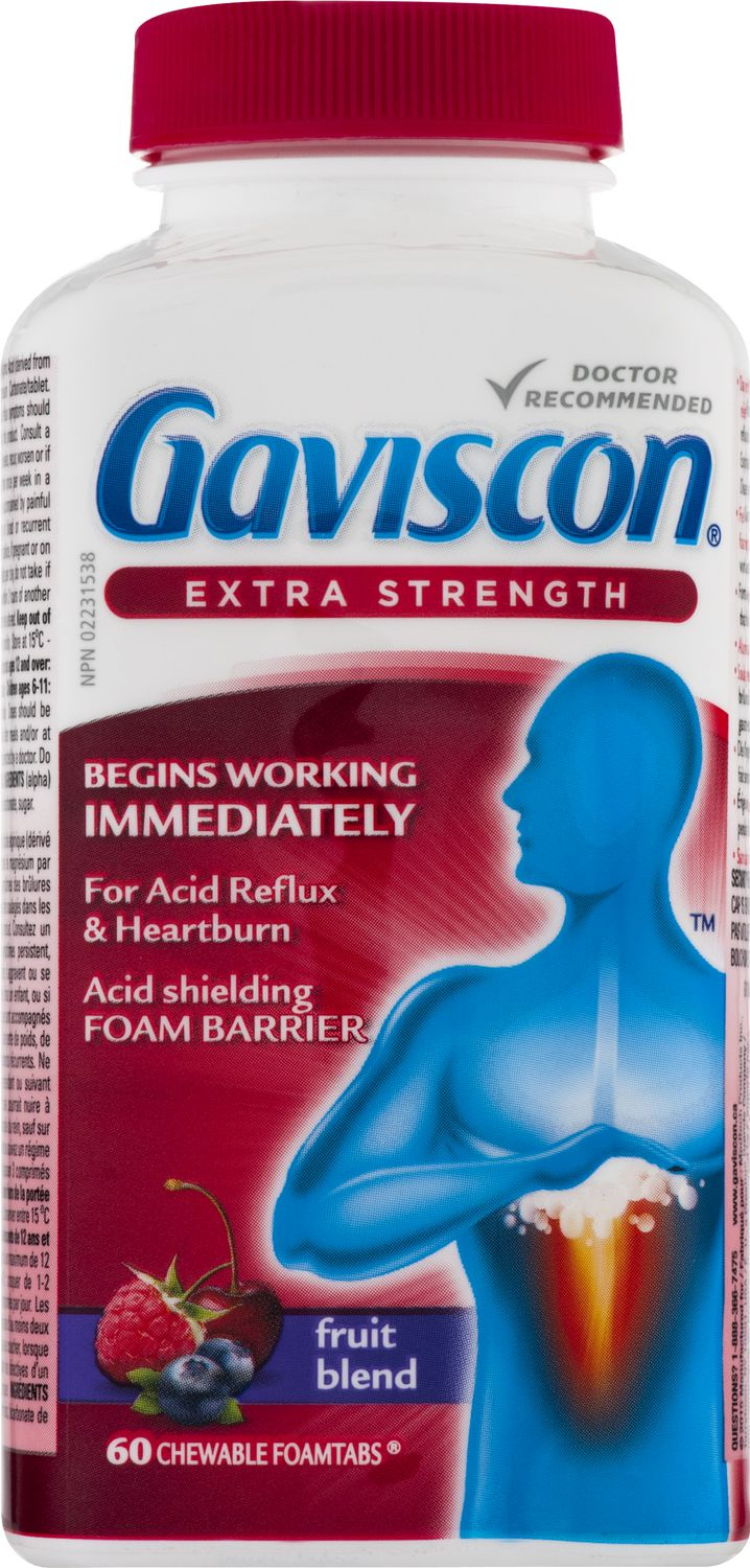 GAVISCON EXTRA STRENGTH - FRUIT 60S - Simpsons Pharmacy