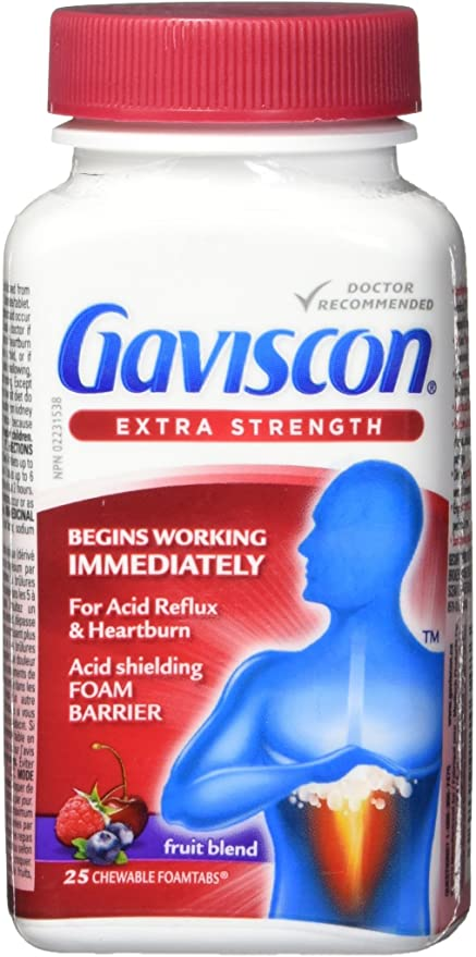 Gaviscon Extra Strength Fruit Blend Flavour - 25 Chewable Tablets - Simpsons Pharmacy