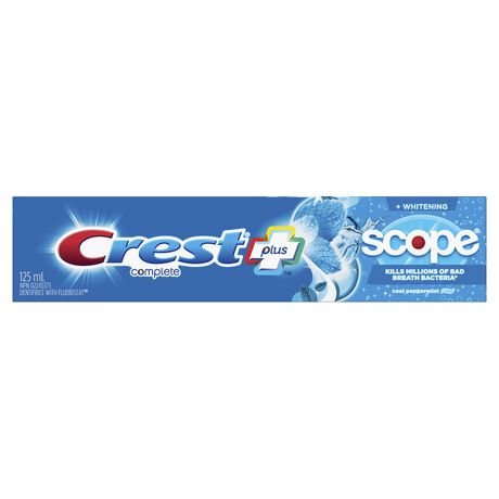 Crest Plus Complete Whitening plus Scope Toothpaste - Cool Peppermint 125mL - Simpsons Pharmacy