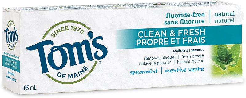 Tom's of Maine Clean and Fresh Natural Toothpaste - Spearmint 85mL - Simpsons Pharmacy