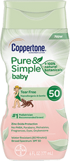COPPERTONE PURE AND SIMPLE BABY SUNSCREEN LOTION SPF 50 - 177ML - Simpsons Pharmacy