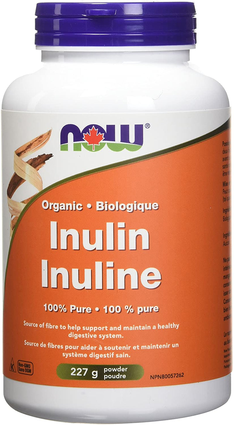 NOW INULIN ORGANIC 227G POWDER - Simpsons Pharmacy