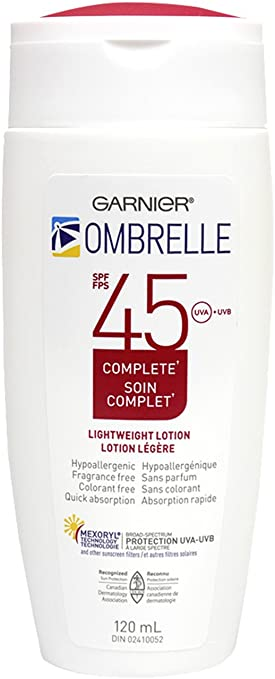 GARNIER Ombrelle Complete Lightweight Lotion SPF 45 - 120ml - Simpsons Pharmacy