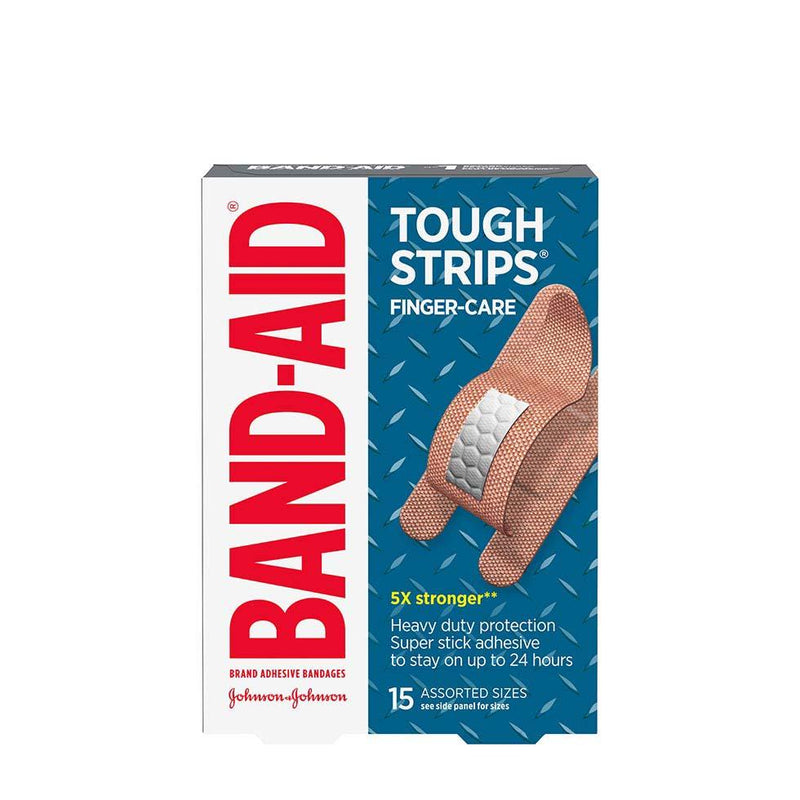 BAND-AID BANDAGE - TOUGH STRIP - FINGER CARE 15S - Simpsons Pharmacy