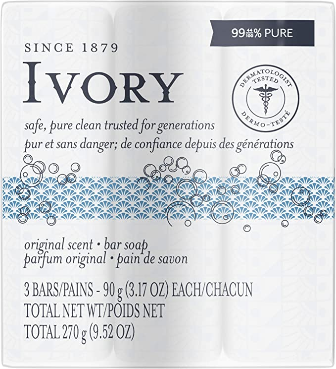 Ivory Original Scent Bar Soap 3 bars - Simpsons Pharmacy