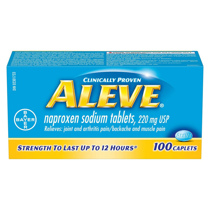 Aleve Naproxen Sodium 220mg - 100 Caplets - Simpsons Pharmacy