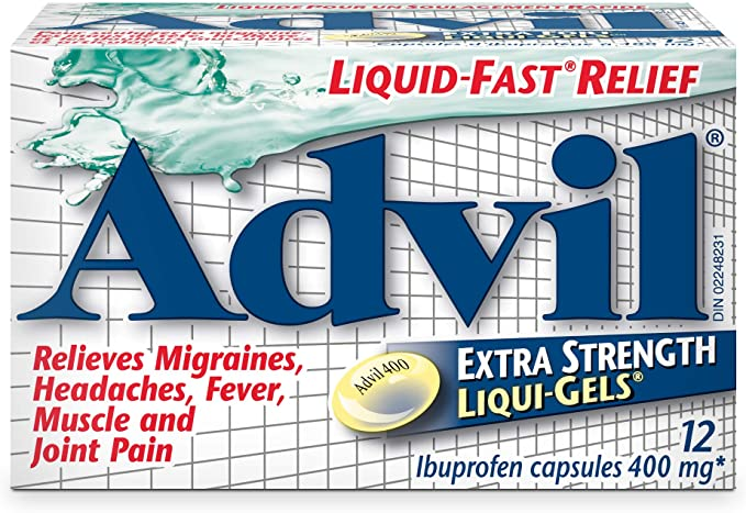 Advil Ibuprofen Liquigels Extra Strength 400mg - 12 Capsules - Simpsons Pharmacy