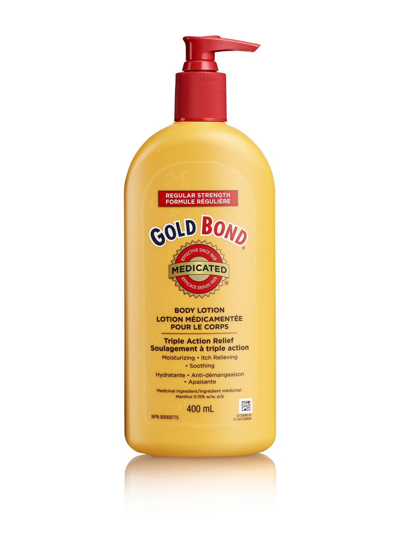 GOLD BOND MEDICATED BODY LOTION - REG 400ML - Simpsons Pharmacy