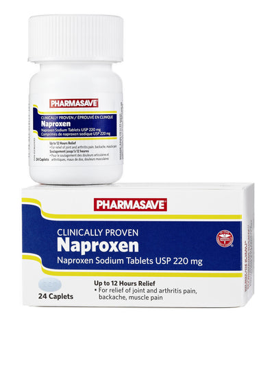 Pharmasave Naproxen 220mg Caplets - Simpsons Pharmacy